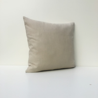 Natural linen coloured linen cushion cover
