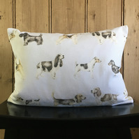 Dog Lovers Lumbar Cushion Cover