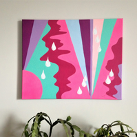 Original painting on canvas, Abstract painting, Abstract Art.