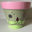 Hand painted plant pot.