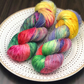 Hand Dyed Yarn: 4ply Merino Nylon - Firework. Deluxe Sock Base, Sock Yarn,