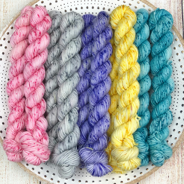 Mini Skeins Sets: 4ply Deluxe Merino Nylon Sock Yarn