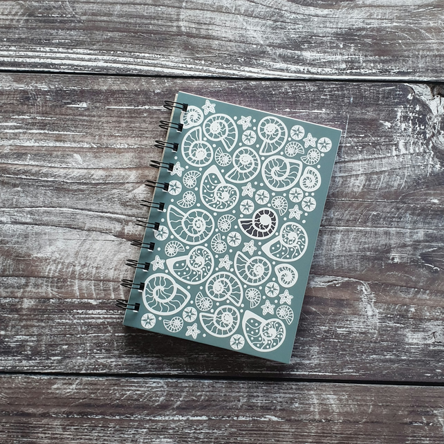 Fossil Beach A6 Notebook - Pale Blue