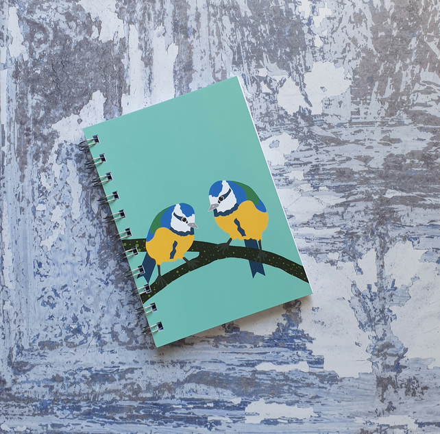 Bluetits A6 Notebook