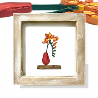 Quilled Freesia Botanical Wall Art