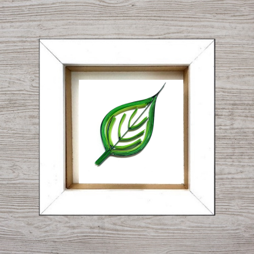 The Leaf Paper Quilling Box Frame