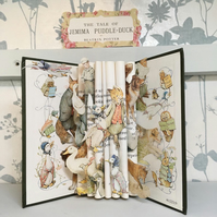 Beatrix Potter Jemima Puddleduck Book Sculpture