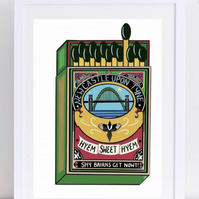 Newcastle Matchbox Print
