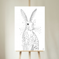 Hare Rabbit Print, Limited Edition Print