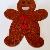 Leather Gingerbread Man