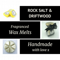 Rock Salt and Driftwood Soy Wax Melt for use in wax & oil burners