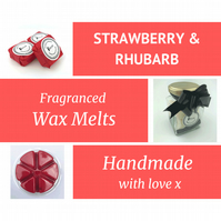Strawberry and Rhubarb Soy Wax Melt for use in wax & oil burners