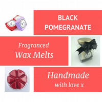 Black Pomegranate Soy Wax Melt for use in wax & oil burners