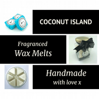 Coconut Island Soy Wax Melt for use in wax & oil burners