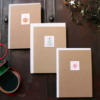 Modern Cross Stitch Christmas Card Pack