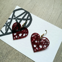Heart Acrylic Earrings