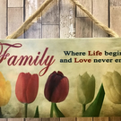 Handmade Family Wall Plaque