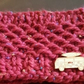 Hand Made Burgundy Red Head Band or Ear Warmer with Camper Motif