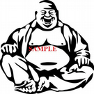 Laughing Buddha Single Colour PDF Cross Stitch Chart