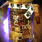 Personalised Dogs Tasty Treats Jar Gift, Hand Crafted in Scotland