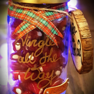 Personalised Sweet Jar Gift with Christmas gift, Hand Crafted in Scotland