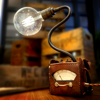 Upcycled Vintage Industrial 1940s GPO Multimeter Lamp