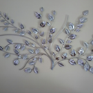 Silver leaf Metal wall art