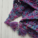 Purple blue scarf