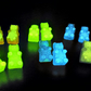 Glow in the dark Gummy bear stud earrings