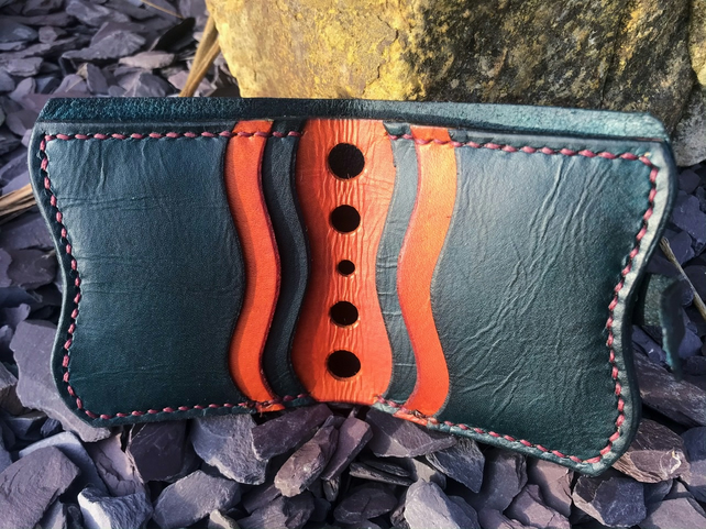 Mens Bespoke Customisable Hand Made Leather Wallet