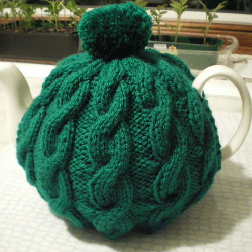 Traditional Cable Tea Cosy - 4 cup pot