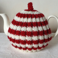 Red and White Tea Cosy
