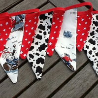 Cowboy bunting flags- 11 flags, playroom, bedrooms or photo prop