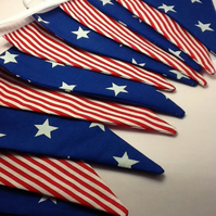 Stars and Stripes Bunting - 12 flags, 4th July, Independence Day
