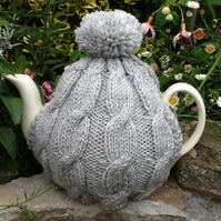 Tea Cosy - Pale Grey fits a 6 cup pot