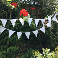 White Bunting -  perfect for any occasion, wedding bunting, party bunting