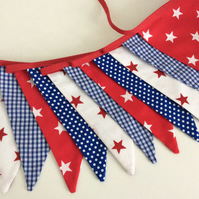 Boys Bunting - 12flags, Playroom, birthday, party, reds and blues nautical feel