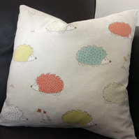 Hedgehog Cushion a Cover 40cm by 40cm or 16 inch by 16 inch