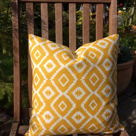 Yellow cushion cover 40cm by 40cm