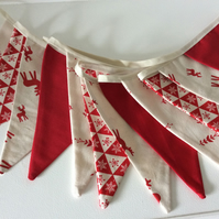 Scandi Christmas Bunting - 12 flags new for 2015 with reindeer
