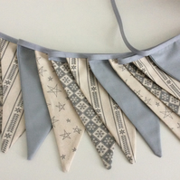Christmas Bunting - 12 flags Scandinavian Style in Grey