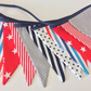 Nautical Bunting - 12 flags, great for coastal theme, child's  Room, Playroom,