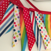 Circus bunting flags- rainbow 12, playroom, bedrooms or photo prop