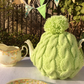 Tea Cosy - Knitted lime tea cosy fits a 4-6 cup pot
