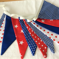 Boys Bunting - 11 flags, Playroom, birthday, party, reds and blues nautical feel