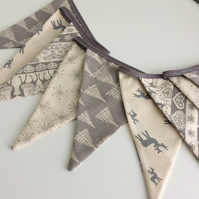 Scandi Christmas Bunting - 12 flags new for 2019 with reindeer,