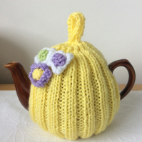 Mother's Day Tea Cosy - lemon yellow fits a 1-2 cup or 0.5 pint pot