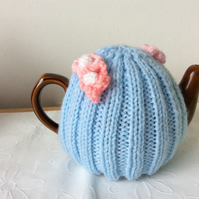 Mother's Day Tea Cosy - blue and pink  a 1-2 cup or 0.5 pint pot