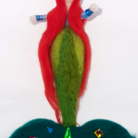 Mermaid Doll Wool Sculptured Waldorf Inspired