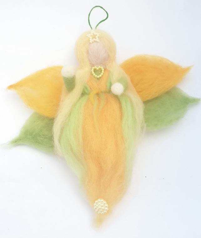 Spring Fairy Doll Hanging Ornament Waldorf Inspired